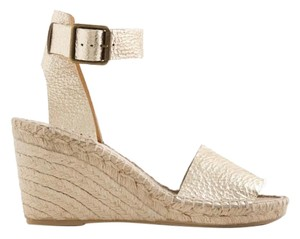 J.Crew Pale Gold Wedges