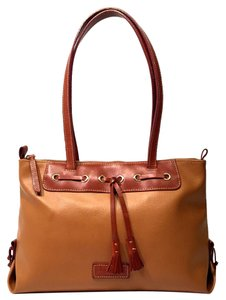 Dooney & Bourke Tote in Taupe Brown With Carmel Finishes