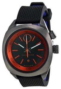 Movado Grey Ion Plated with Black Rubber Strap Designer MENS Sport Watch