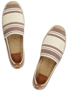 Tory Burch Ivory/Dark Plum/royal tan Flats