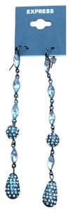 Express Long Rhinestone Cocktail Evening Earrings