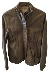 Vince Taupe/tan Leather Jacket