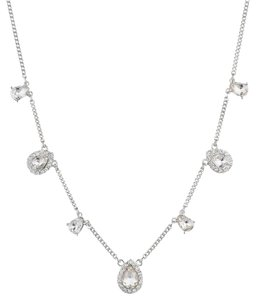 Givenchy Givenchy Silvertone Frontal Necklace