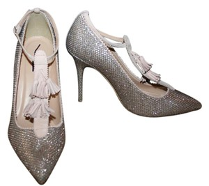 J.Crew Pale Gold Glitter Pumps