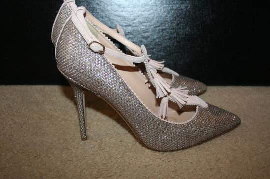 J.Crew Pale Gold Glitter Pumps Image 2