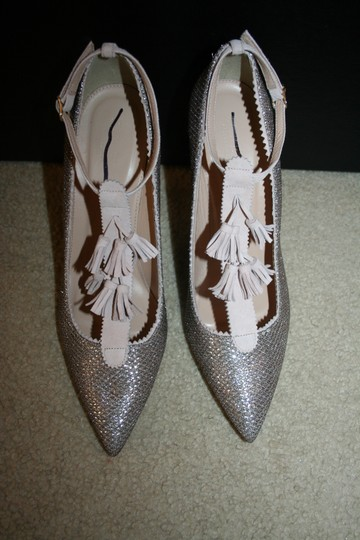 J.Crew Pale Gold Glitter Pumps Image 4
