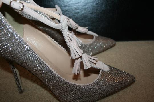J.Crew Pale Gold Glitter Pumps Image 5