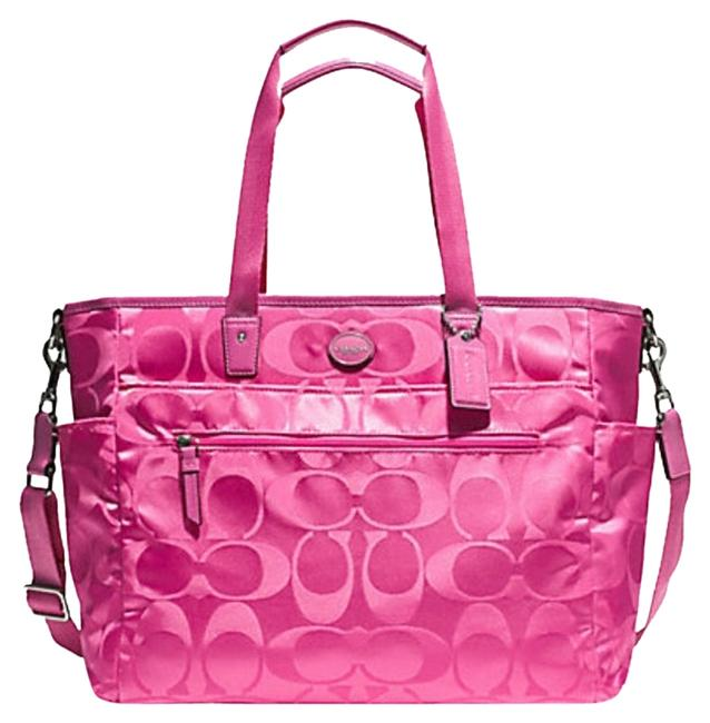 Item - Bnwt F77577 Buisness Large Hot Pink Nylon Diaper Bag