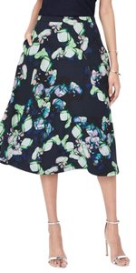 Banana Republic Skirt Floral print w dark blue