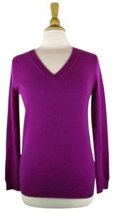 MagaschoniFuchsia Cashmere V-neck Sweater