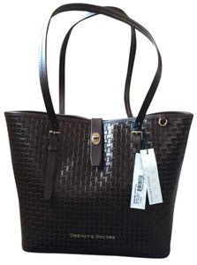 Dooney & Bourke Woven Dover New With Tags (Nwt) Middle Divider Tote in Brown T'moro