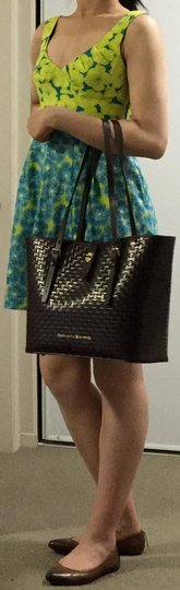 Dooney & Bourke Woven Dover New With Tags (Nwt) Middle Divider Tote in Brown T'moro Image 11