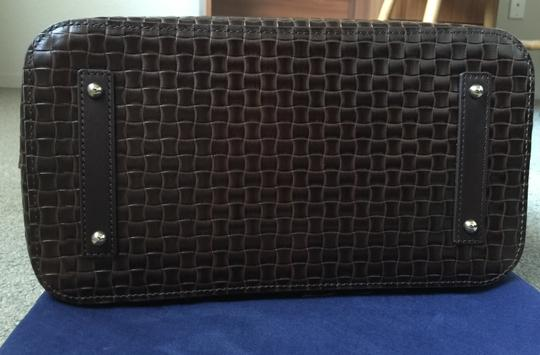 Dooney & Bourke Woven Dover New With Tags (Nwt) Middle Divider Tote in Brown T'moro Image 3
