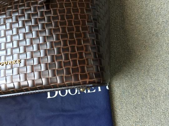 Dooney & Bourke Woven Dover New With Tags (Nwt) Middle Divider Tote in Brown T'moro Image 5