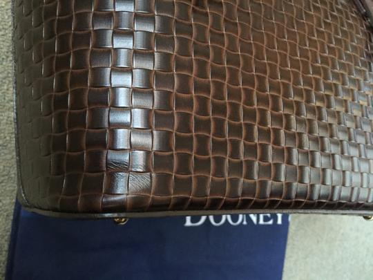 Dooney & Bourke Woven Dover New With Tags (Nwt) Middle Divider Tote in Brown T'moro Image 6
