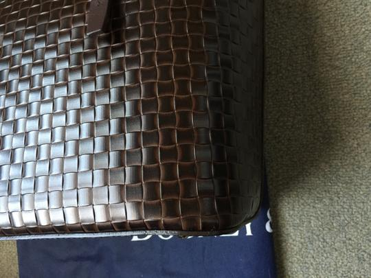 Dooney & Bourke Woven Dover New With Tags (Nwt) Middle Divider Tote in Brown T'moro Image 7
