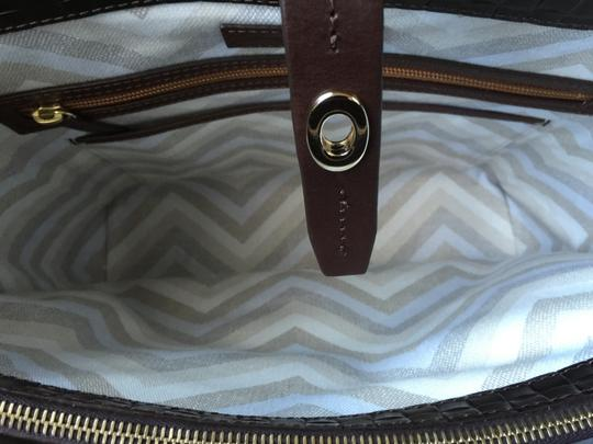 Dooney & Bourke Woven Dover New With Tags (Nwt) Middle Divider Tote in Brown T'moro Image 8