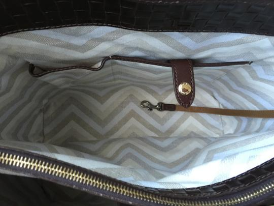 Dooney & Bourke Woven Dover New With Tags (Nwt) Middle Divider Tote in Brown T'moro Image 9