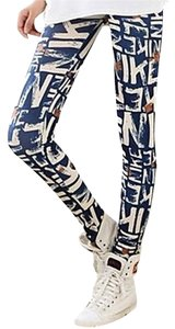 Navy/Cream/Rust-Red Leggings
