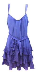 Rebecca Taylor short dress PURPLE Silk on Tradesy