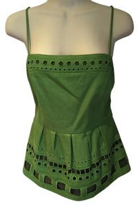 Anthropologie Top Kelly green