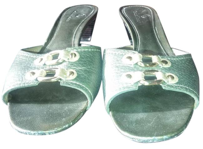 Item - Green Metallic Your Summer Sandals Size US 8.5 Regular (M, B)