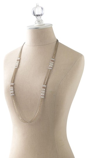 Preload https://img-static.tradesy.com/item/1723971/stella-and-dot-silver-rose-gold-gold-and-white-beads-dakota-necklace-0-0-540-540.jpg