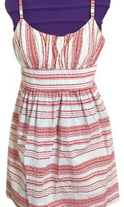 B. Smart short dress White with red stripes on Tradesy