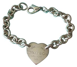 Tiffany & Co. Return To Tiffany Silver Heart Tag Link Bracelet