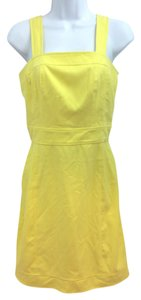 Banana Republic short dress Cotton Yellow on Tradesy