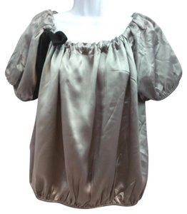 Cynthia Steffe Grey Silk Top