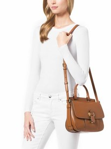 Michael Kors Large Pebbled Leather Romy Messenger Shoulder Bag