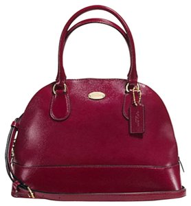 Coach Domed Cora Dome Satchel in sherry / light Gold tone