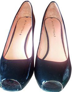 Via Spiga Black patent Pumps