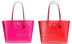 Coach Satchel 36126 36609 Tote in pink Carmine GOLD TONE