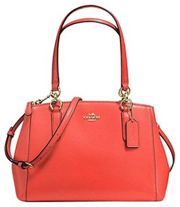 Coach Carryall Christie Tote Satchel in GOLD/ Watermelon