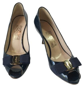 Salvatore Ferragamo Dark Blue Pumps