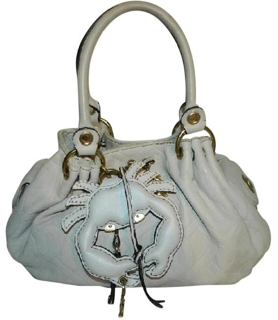 Item - ~rare~juicy Couture~leather Baby Fluffy Large Crab and Charms~ Ivory Genuine Leather Hobo Bag