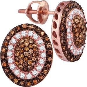 Other Luxury Designer 14k Rose Gold 0.52 Cttw Cognac Diamond Fashion Earrings By BrianGdesigns