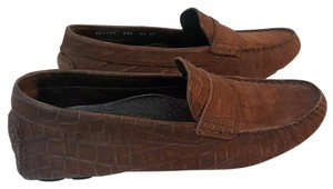 Cole Haan Suede Crocodile Brown Flats