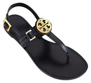Tory Burch Cassia Flat Sandal Black Sandals