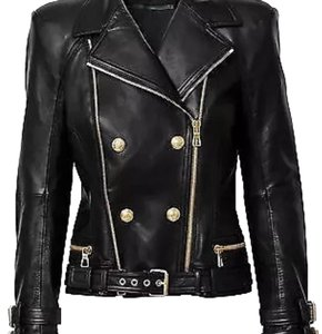 Balmain x H&M Leather Jacket