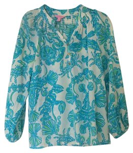Lilly Pulitzer Top Booze Cruise Blue