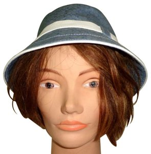 Coach COACH Leatherware Signature C Gray/Silver Crusher Bucket Hat Size S