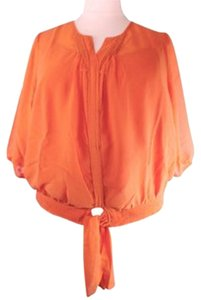 Denim 24/7 Front & Camisole Plus Size Fashions Two Piece Top New Orange