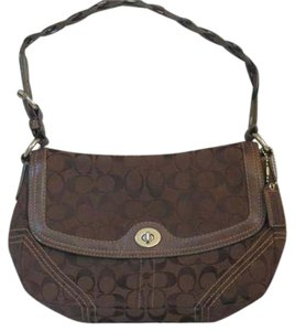 Coach Vintage Canvas Brass Shoulder Bag
