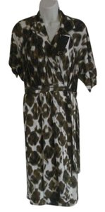 Just Cavalli Full Wrap Abstract Stretchy New With Tags Dress