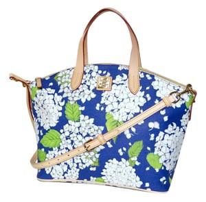 Dooney & Bourke Domed Limited Edition Satchel in Blue Floral Print