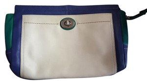 Coach Wristlet in Blue, Teal and White