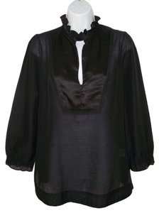 Joie Sheer Silk Cotton Bib Top